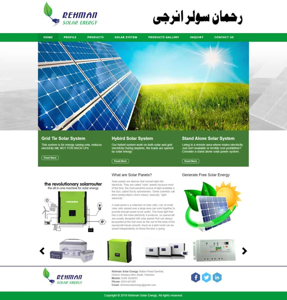 Rehman Solar Energy