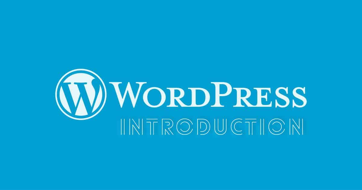 WordPress Introduction
