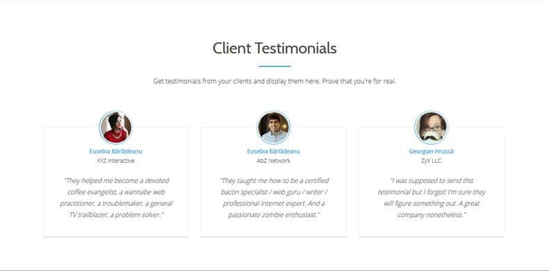 Clients Testimonials Section