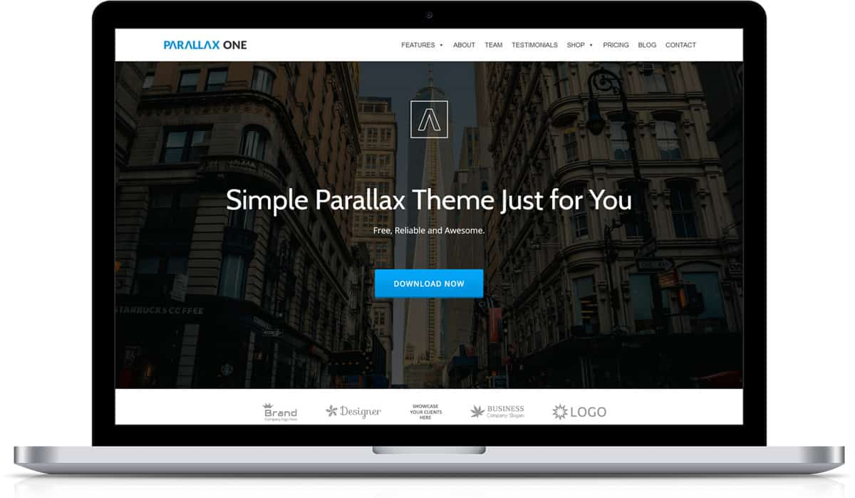 Parallax One Theme